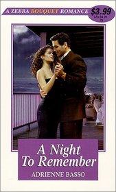 A Night to Remember (Zebra Bouquet Romance, No 72)