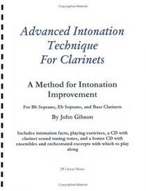 Advanced Intonation Technique for Clarinets