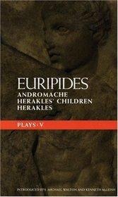 Euripides Plays: V (Methuen Classical Greek Dramatists)