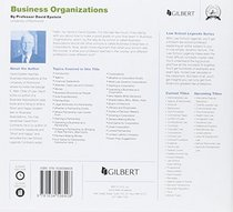 Law School Legends Audio on Business Organizations (Law School Legends Audio Series)