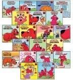 Cliffford The Big red Dog Book Set: Clifford's Big Learning Treasury; Clifford's first school day and Clifford's halloween Set