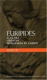 Euripides Plays 4 (Methuen Classical Greek Dramatists)
