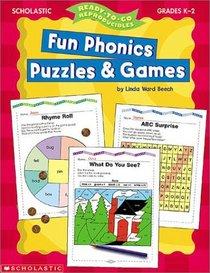 Ready-to-Go Reproducibles: Fun Phonics Puzzles  Games (Grades K-2)