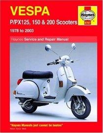 Vespa P/PX125, 150 & 200 Scooters 1978-2009 (Haynes Service & Repair Manual)