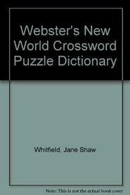 Webster's New World Crossword Puzzle Dictionary