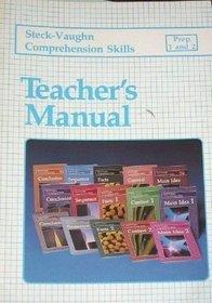 Steck-Vaughn Comprehension Skills Prep 1 & 2, Teacher's Manual