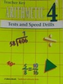 Arithmetic Test and Speed Drill Key Grade 4