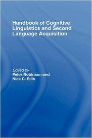 Handbook of Cognitive Linguistics and Second Language Acquisition