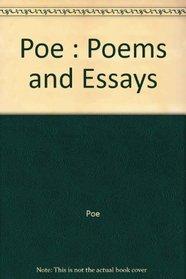 Poems & Essays, Poe