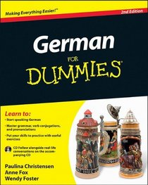 German For Dummies  (with CD) (For Dummies) (Language & Literature)