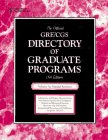 The Official Gre Cgs Directory of Graduate Programs: Natural Sciences (Directory of Graduate Programs: Vol. A: Natural Sciences)