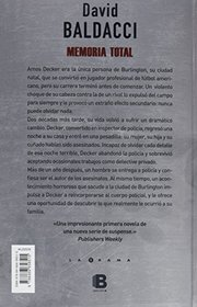 Memoria total (Spanish Edition)