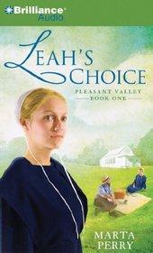 Leah's Choice (Pleasant Valley, Bk 1) (Audio CD) (Abridged)