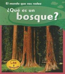 Que Es Un Bosque?/what Is A Forest? (Lee Y Aprende, El Mundo Que Nos Rodea/the World Around Us)