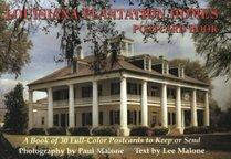 Louisiana Plantation Homes Postcard Book