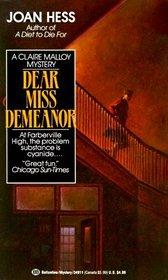 Dear Miss Demeanor (Claire Malloy, Bk 3)