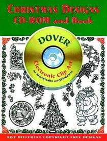 Christmas Designs CD-ROM and Book (Dover Electronic Clip Art Series)