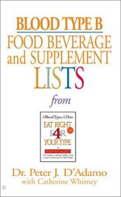 Blood Type B: Food, Beverage and Supplemental Lists