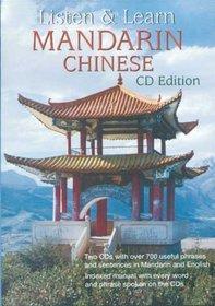 Listen & Learn Mandarin Chinese: CD EDITION (English and Mandarin Chinese Edition)