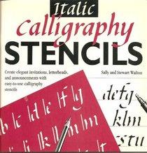 Italic Calligraphy Stencils