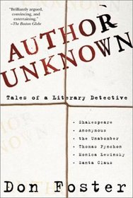Author Unknown: Tales of a Literary Detective
