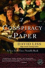 A Conspiracy of Paper (Benjamin Weaver, Bk 1)