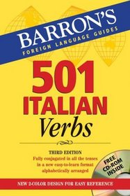 501 Italian Verbs: with CD-ROM (Barrons Foreign Language Guides)
