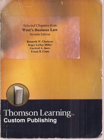 Selected Chapters from West's Business Law Seventh Edition