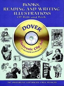 Books, Reading and Writing Illustrations CD-ROM and Book