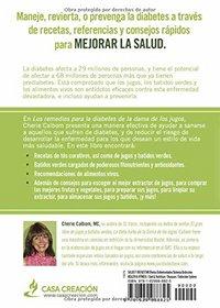 Los remedios para la Diabetes de la Dama de los Jugos: Zumos, batidos y recetas de alimentos vivos para una �ptima salud (Spanish Edition)