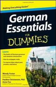 German Essentials For Dummies (For Dummies (Language & Literature))