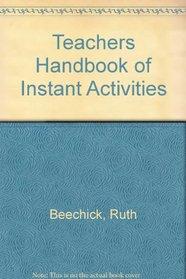 Teachers Handbook of Instant Activities