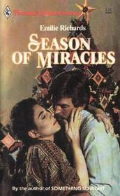 Season of Miracles (Harlequin Superromance, No 240)