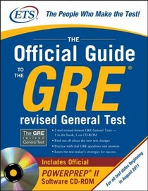 GRE The Official Guide to the General Test with CD-ROM (GRE: The Official Guide to the General Test)