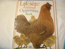 Lifesize Animal Opposites Book