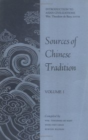 Sources of Chinese Tradition, Vol 1