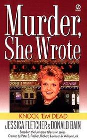 Knock 'em Dead (Murder, She Wrote, Bk 13) (Large Print)