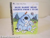 Blue Barry Bear Counts from 1 to 20