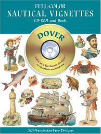 Full-Color Nautical Vignettes CD-ROM and Book (Dover Pictorial Archives)