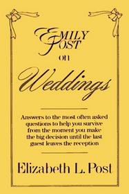 Emily Post on weddings
