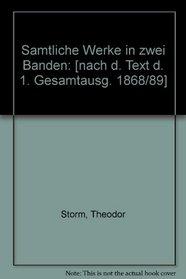 Samtliche Werke in zwei Banden: [nach d. Text d. 1. Gesamtausg. 1868/89] (German Edition)