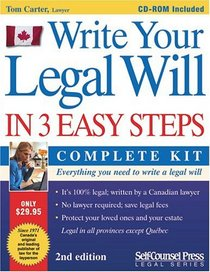 WRITE YOUR LEGAL WILL IN 3 EASY STEPS --2005 publication.