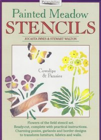 Painted Meadow Stencils - Cowslips and Pansies