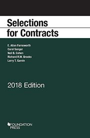 Selections for Contracts, 2018 Edition (Selected Statutes)
