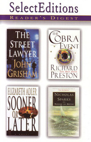 Reader's Digest Select Editions, Vol 4 1998:  The Street Lawyer / Message in a Bottle / The Cobra Event / Sooner or Later