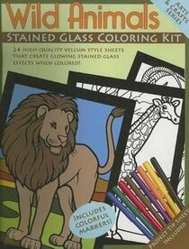 Wild Animals Stained Glass Coloring Kit (Boxed Sets/Bindups)