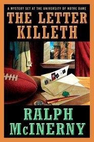 The Letter Killeth (Notre Dame Mysteries)