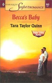 Becca's Baby (Shelter Valley Stories, Bk 1) (Harlequin Superromance, No 943)