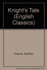 Knight's Tale (English Classics)