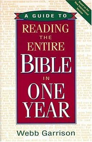 A Guide to Reading the Entire Bible in One Year